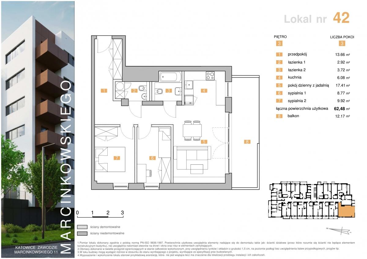 Mieszkanie 042 - 62,48 m2