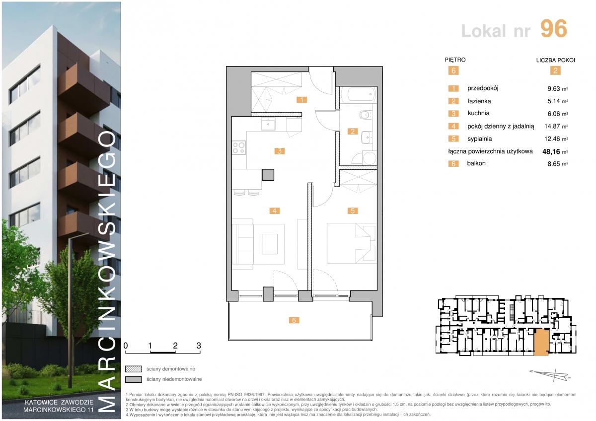 Mieszkanie 096 - 48,16 m2