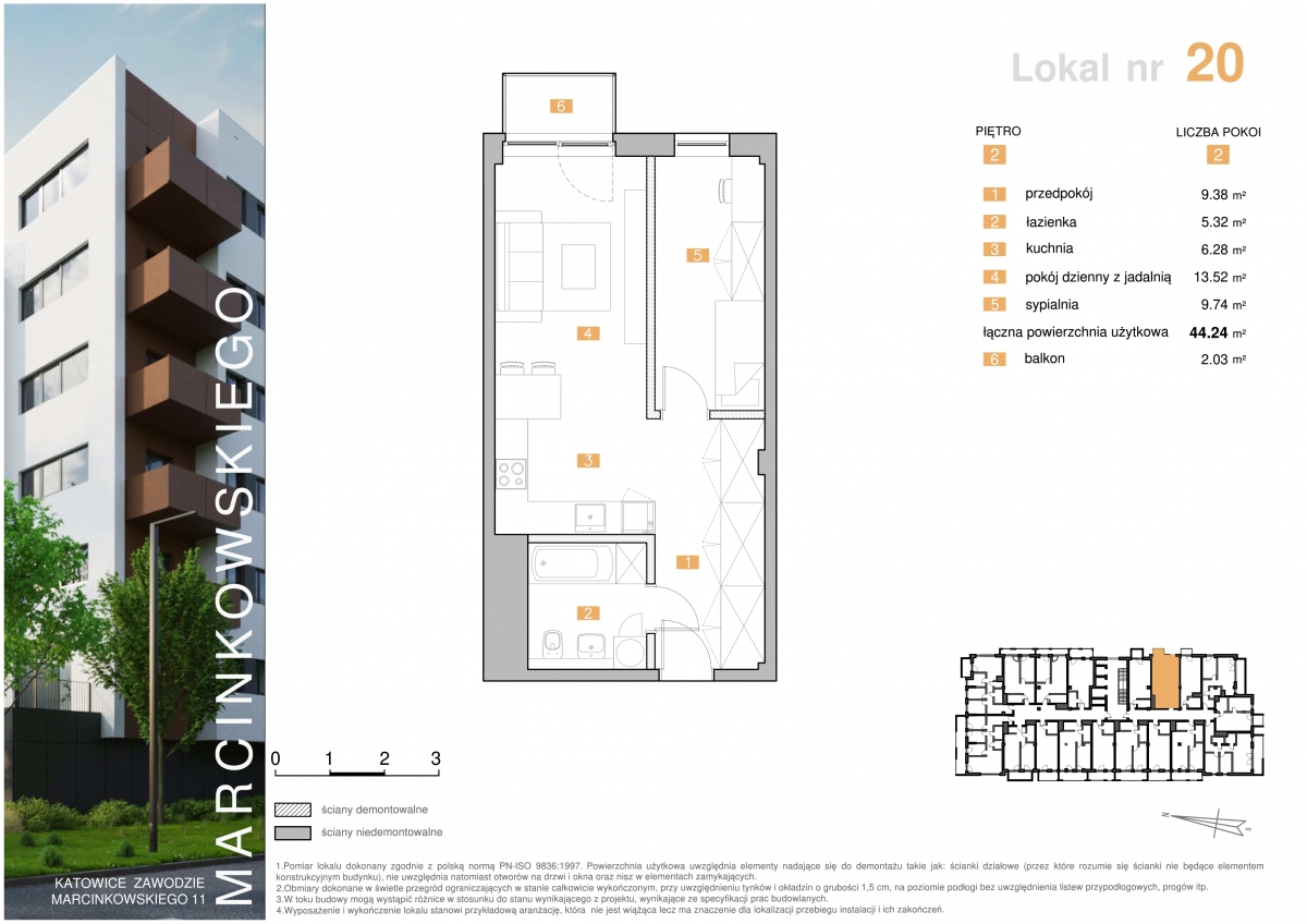 Mieszkanie 020 - 44,24 m2
