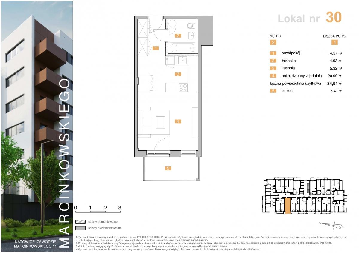 Mieszkanie 030 - 34,91 m2