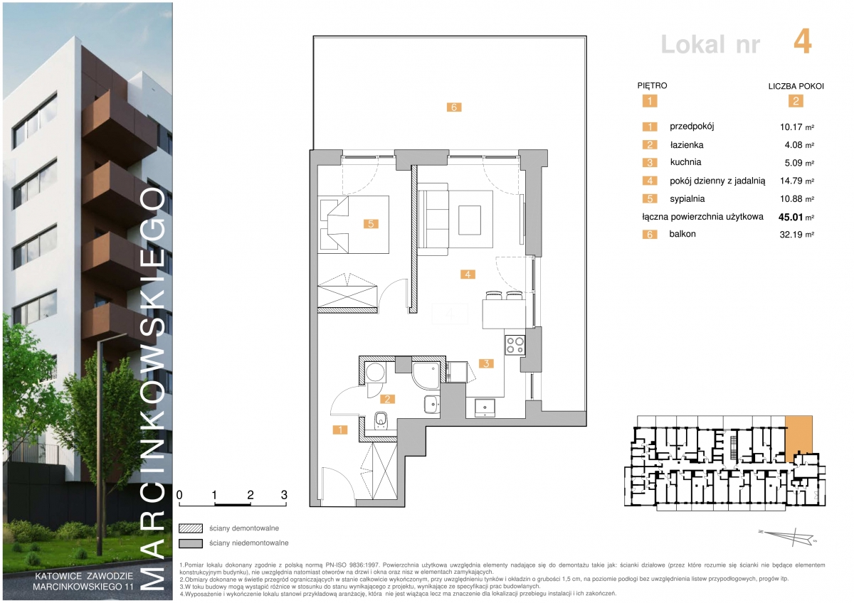 Mieszkanie 004 - 45,01 m2