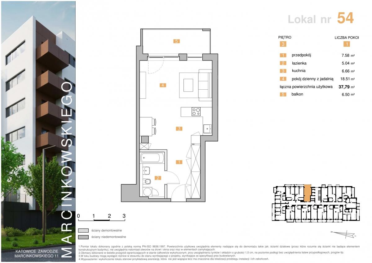Mieszkanie 054 - 37,79 m2
