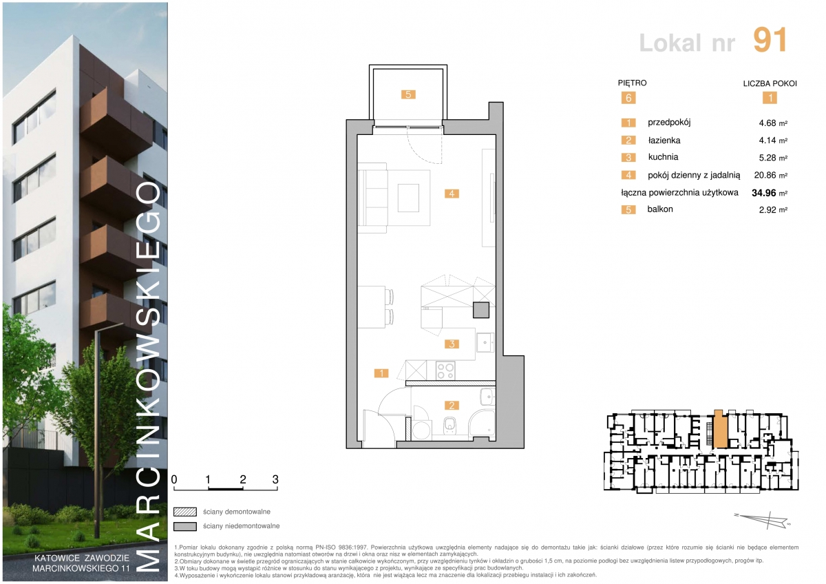 Mieszkanie 091 - 34,96 m2
