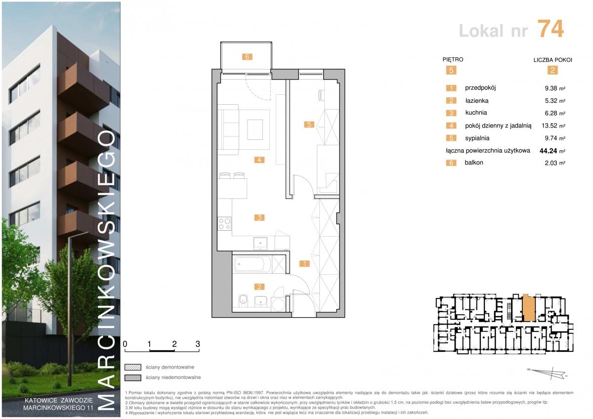 Mieszkanie 074 - 44,24 m2