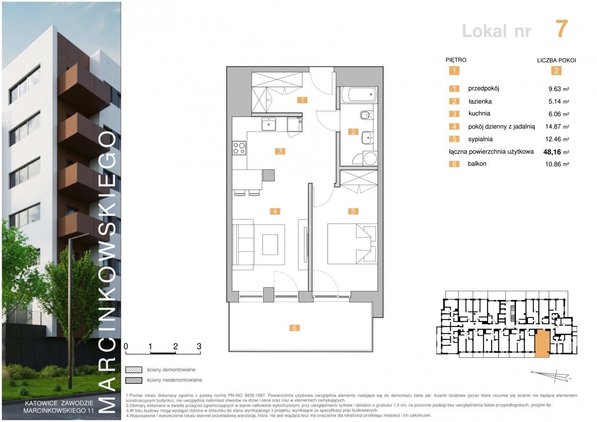 Mieszkanie 007 - 48,16 m2