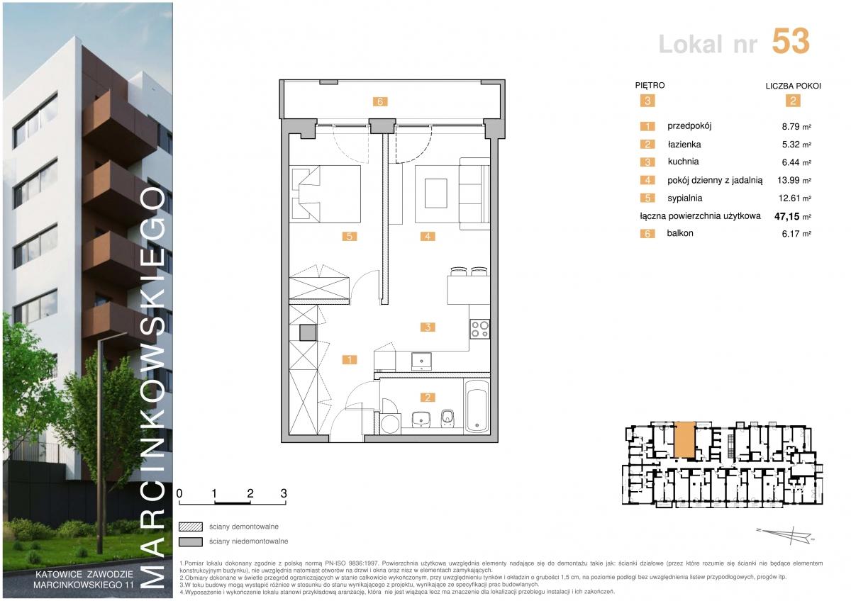 Mieszkanie 053 - 47,15 m2