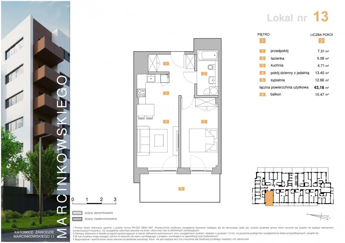 Mieszkanie 013 - 43,16 m2