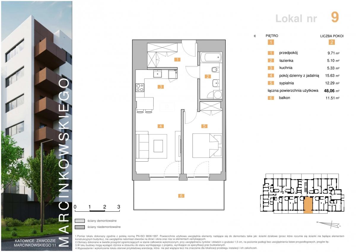 Mieszkanie 009 - 48,06 m2