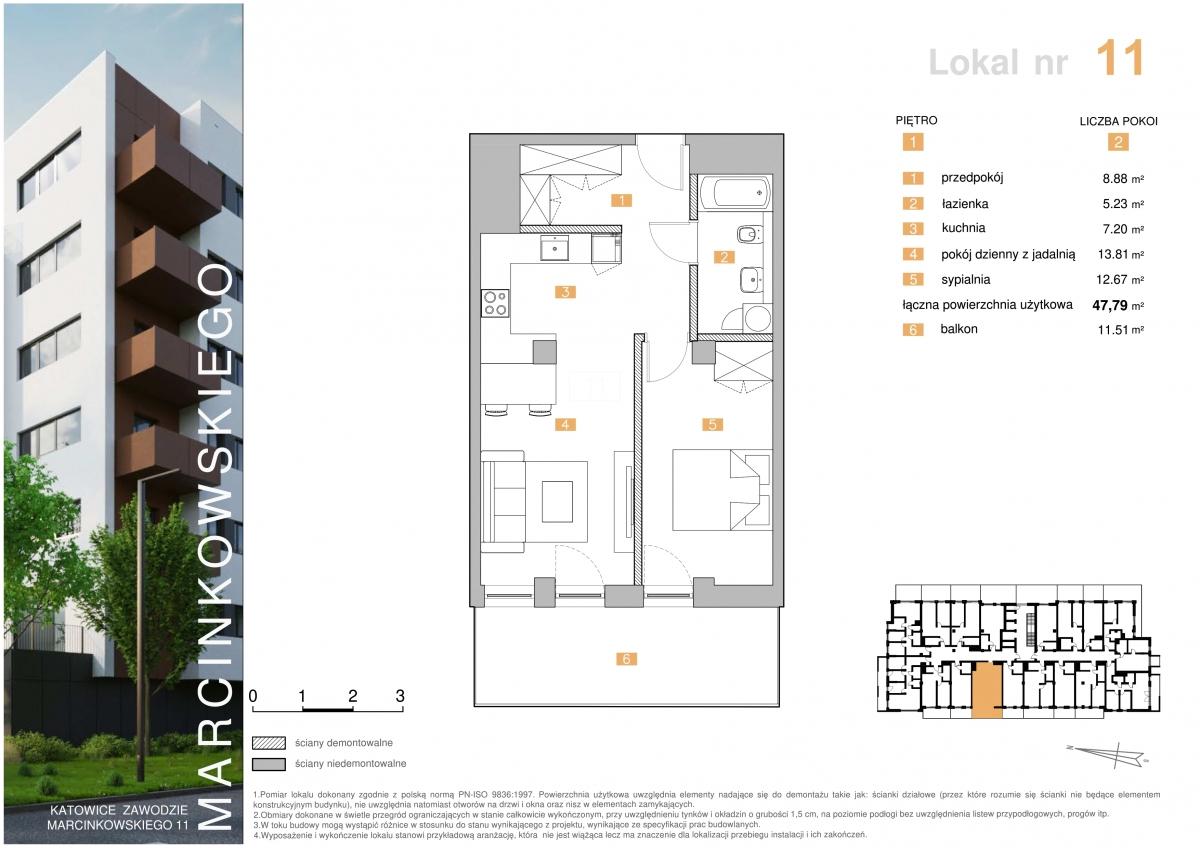 Mieszkanie 011 - 47,79 m2