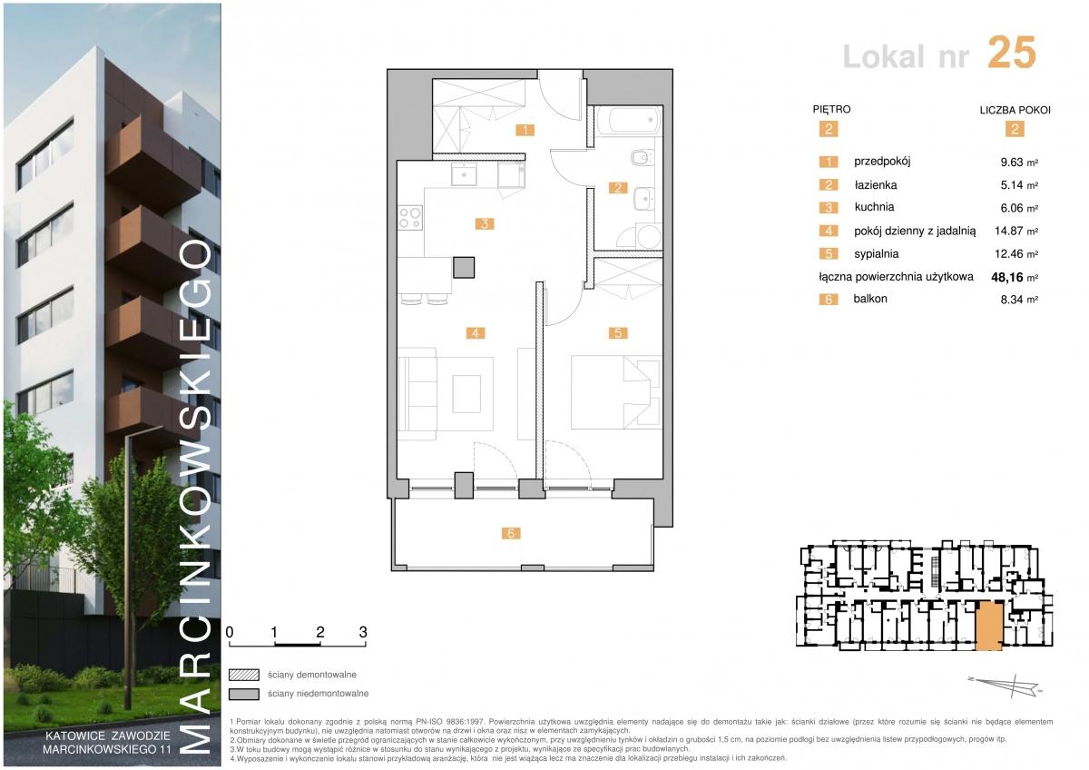 Mieszkanie 025 - 48,16 m2