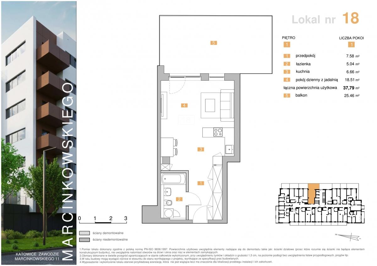 Mieszkanie 018 - 37,79 m2