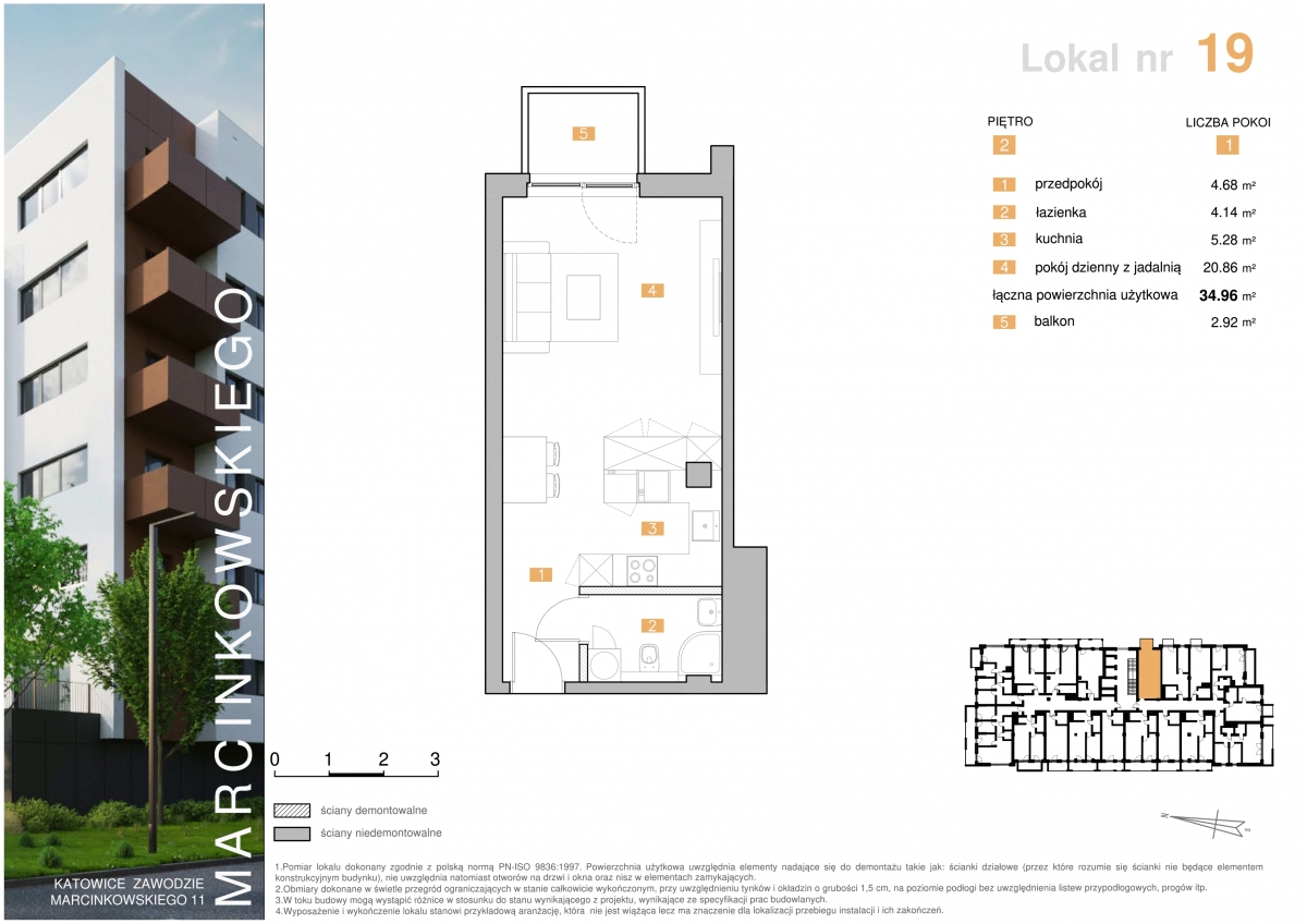 Mieszkanie 019 - 34,96 m2