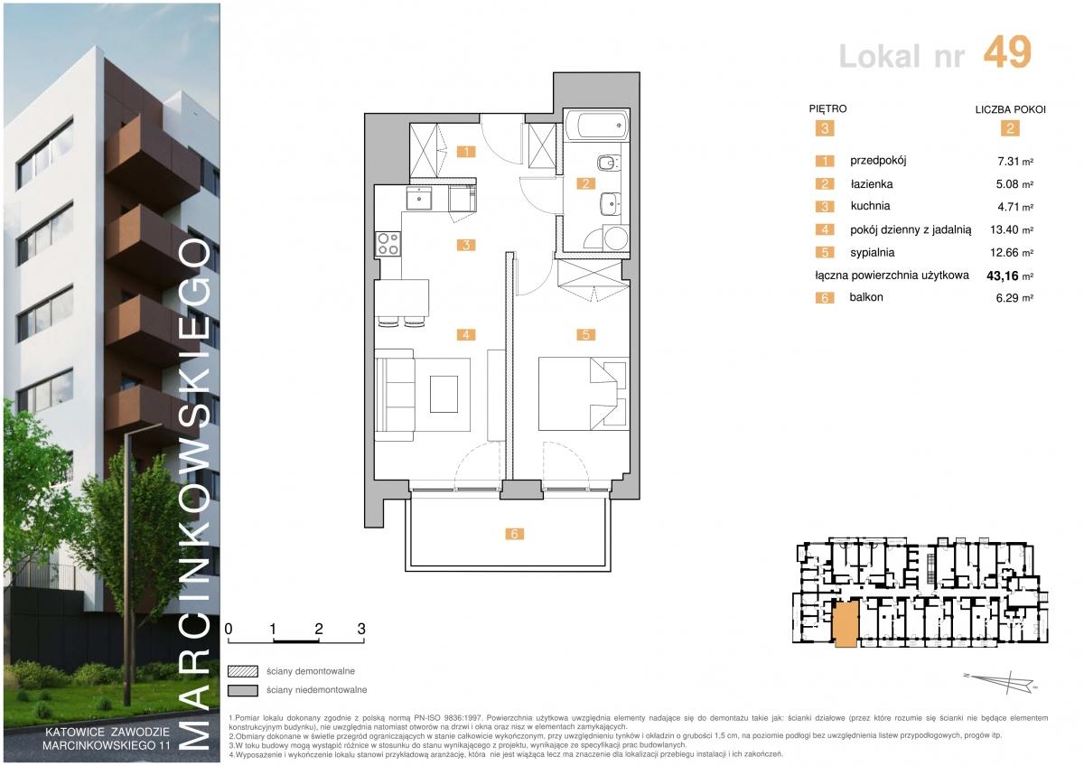 Mieszkanie 049 - 43,16 m2