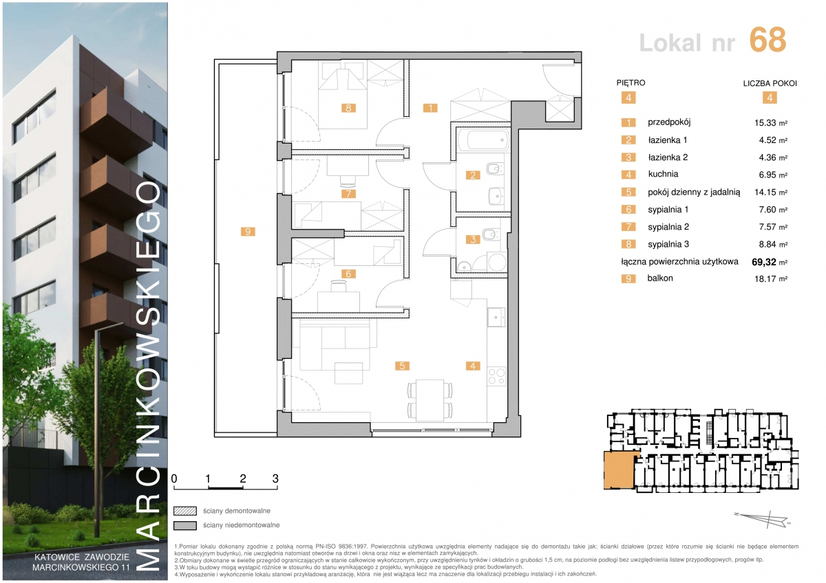 Mieszkanie 068 - 69,32 m2