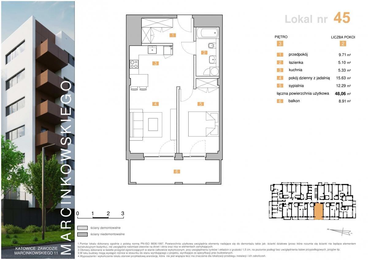 Mieszkanie 045 - 48,06 m2