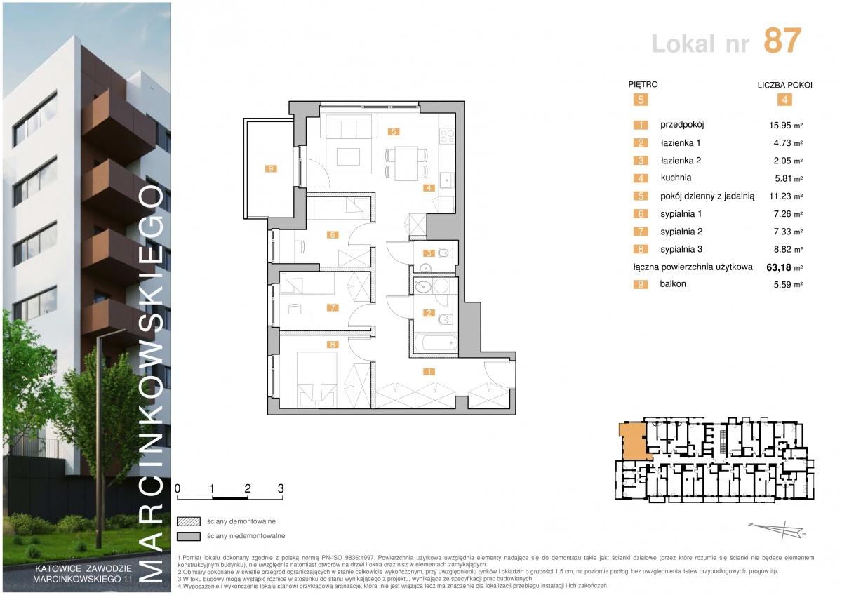 Mieszkanie 087 - 63,18 m2