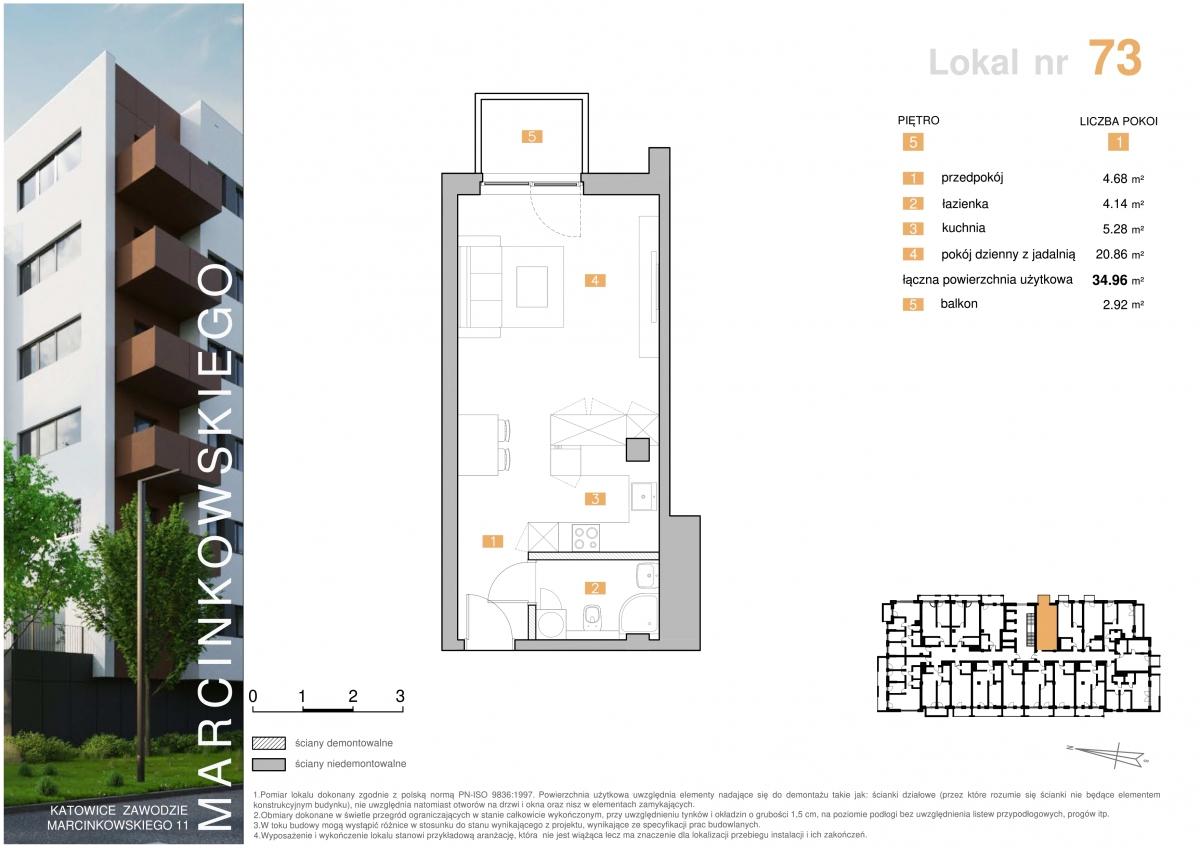 Mieszkanie 073 - 34,96 m2