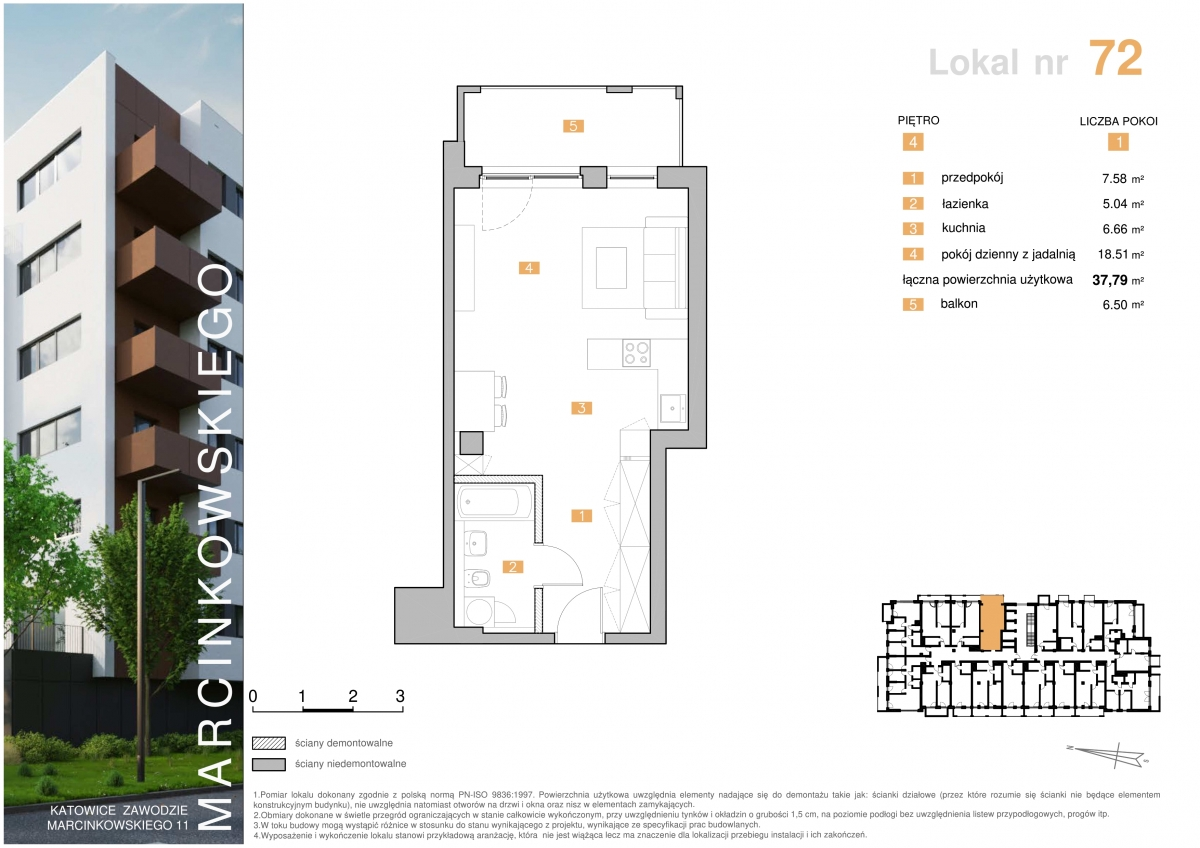 Mieszkanie 072 - 37,79 m2