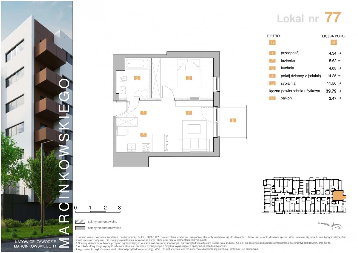 Mieszkanie 077 - 39,79 m2