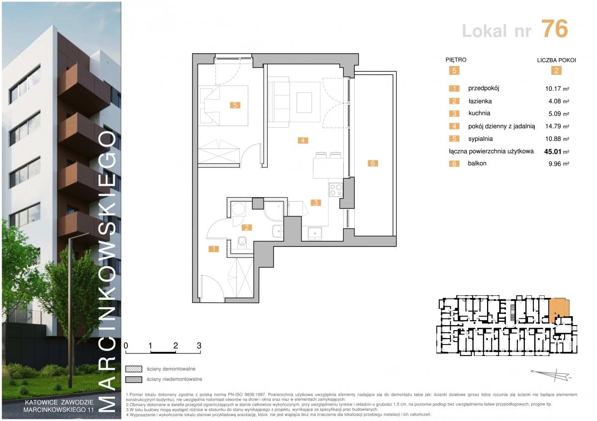Mieszkanie 076 - 45,01 m2