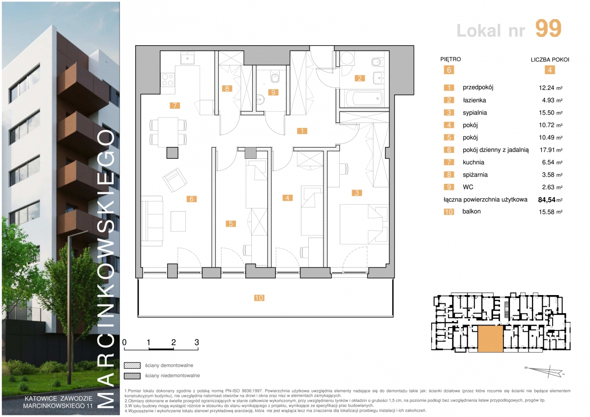 Mieszkanie 099 - 84,54 m2