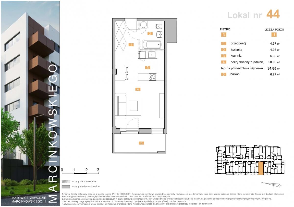 Mieszkanie 044 - 34,85 m2