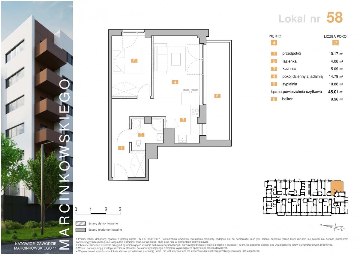 Mieszkanie 058 - 45,01 m2