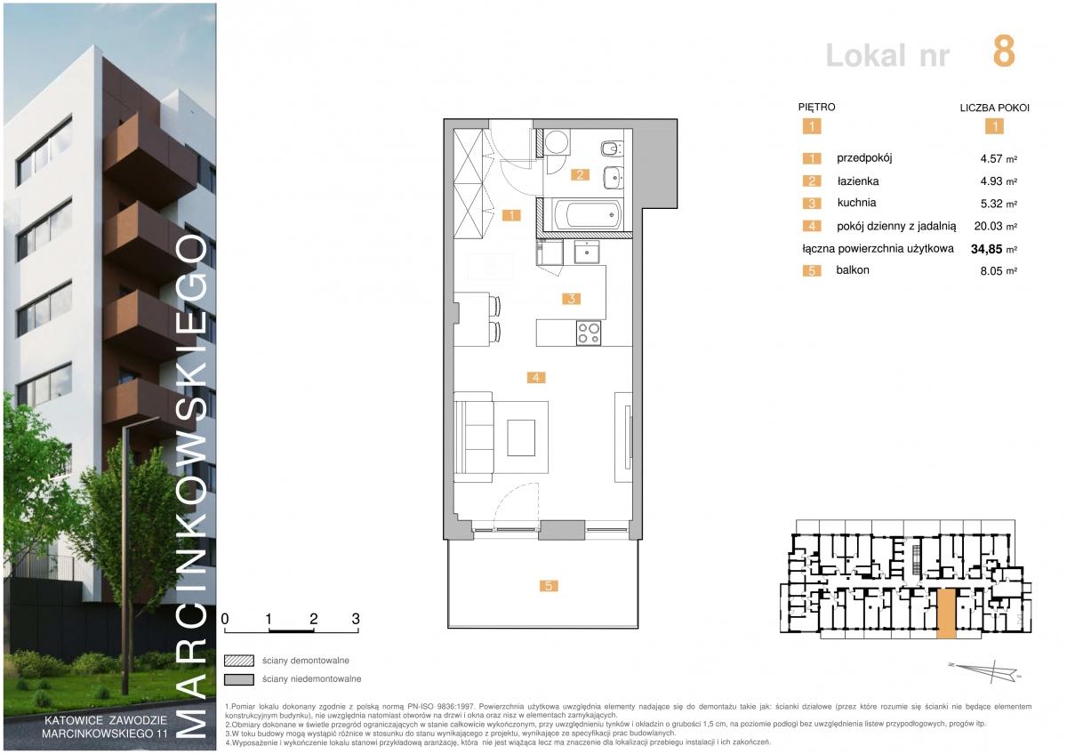 Mieszkanie 008 - 34,85 m2