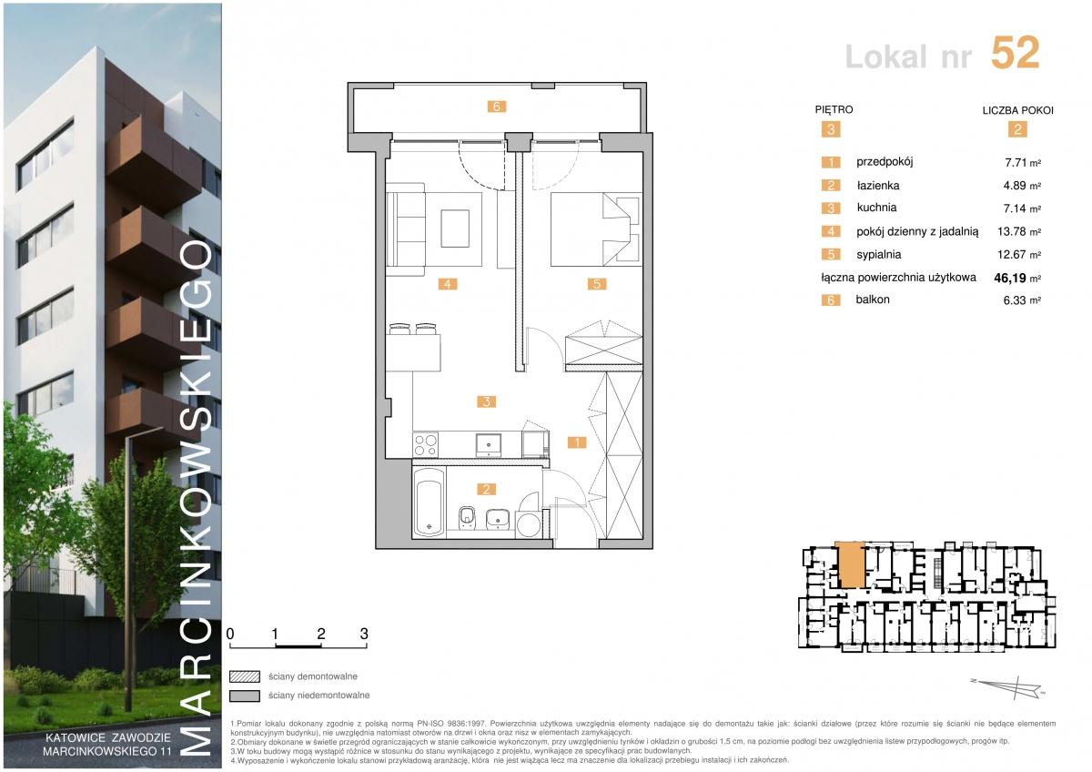 Mieszkanie 052 - 46,19 m2