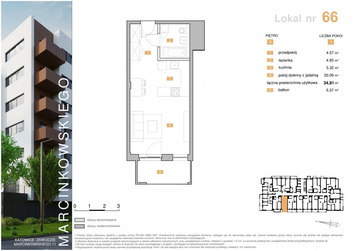 Mieszkanie 066 - 34,91 m2