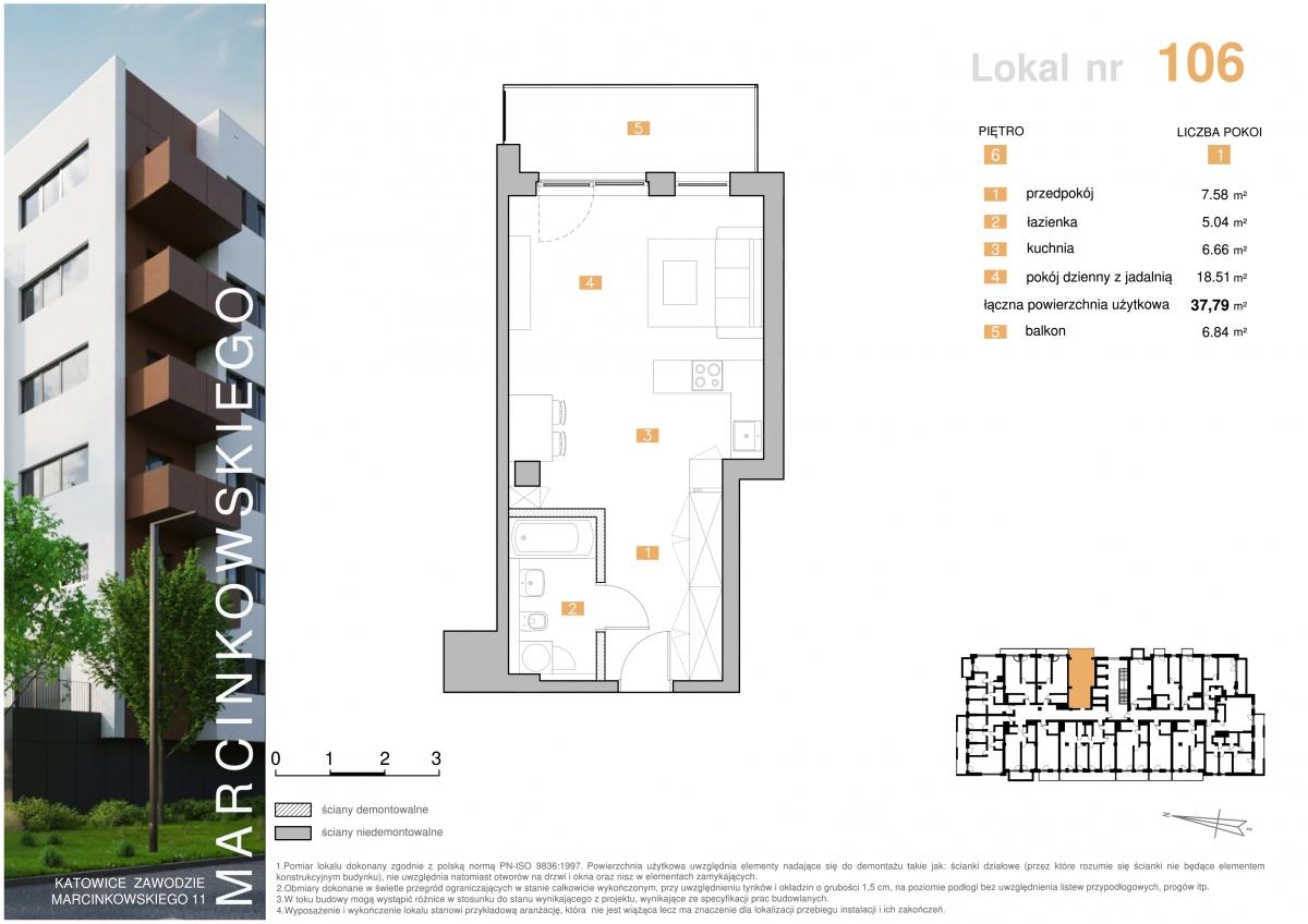 Mieszkanie 106 - 37,9 m2