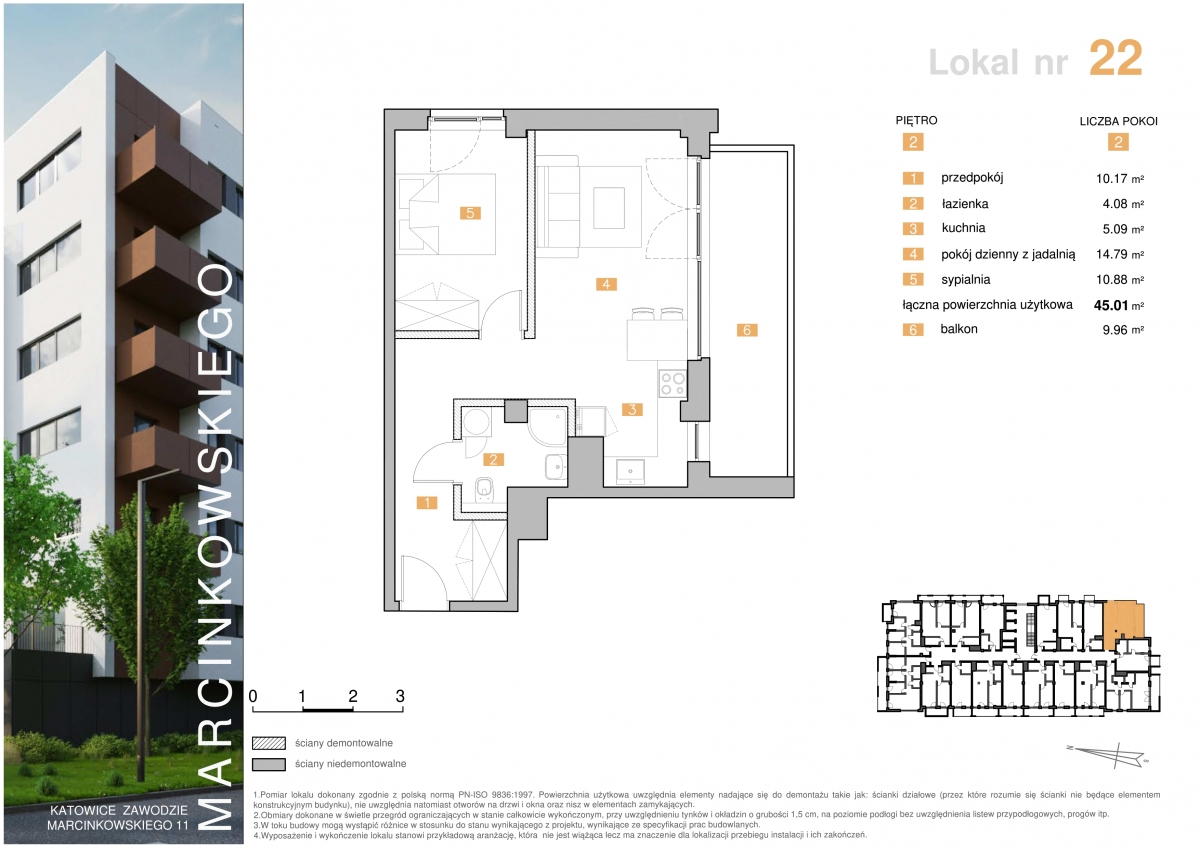 Mieszkanie 022 - 45,01 m2