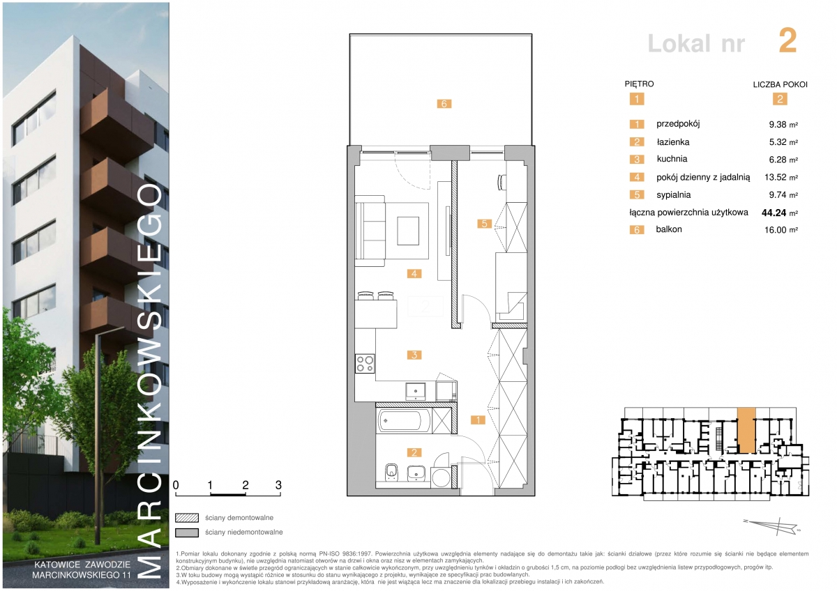 Mieszkanie 002 - 44,24 m2