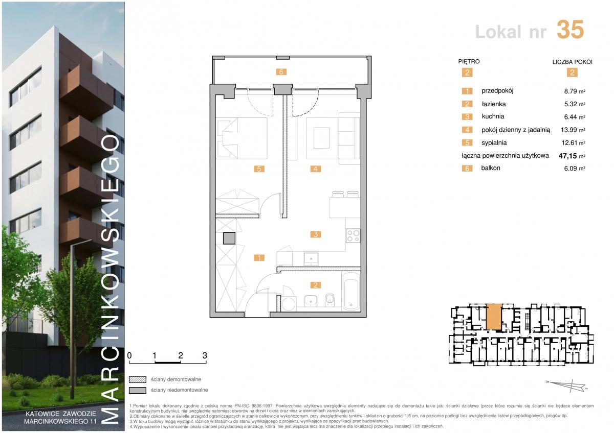 Mieszkanie 035 - 47,15 m2