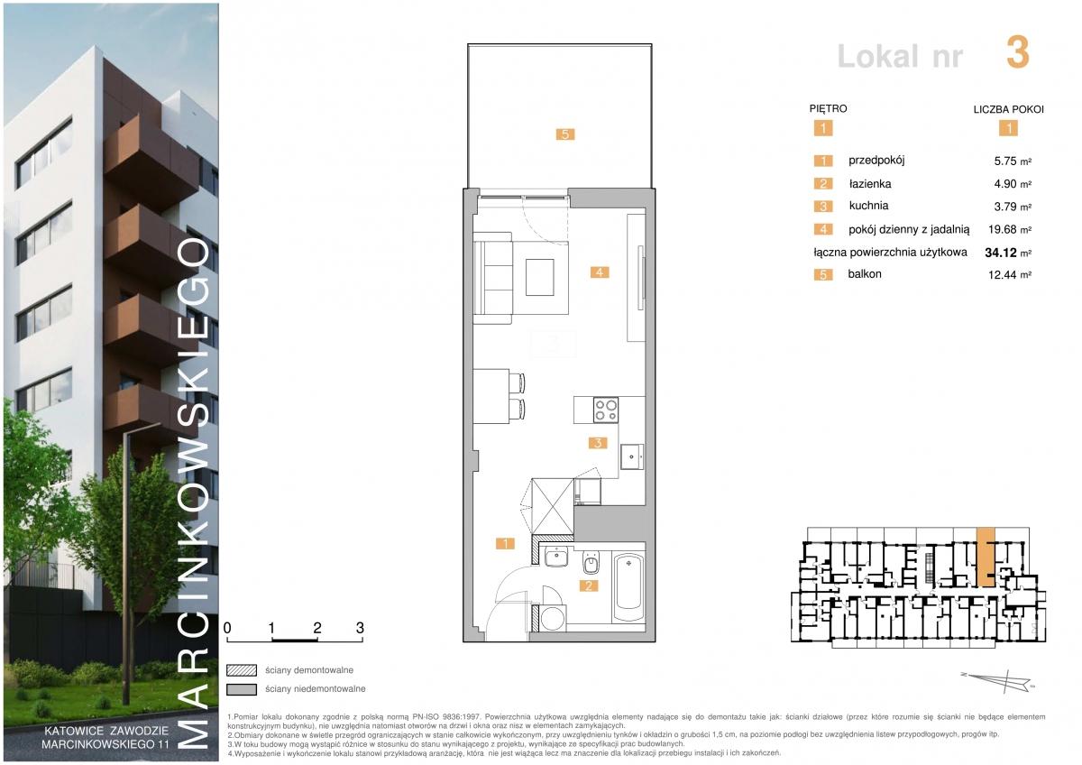 Mieszkanie 003 - 34,12 m2