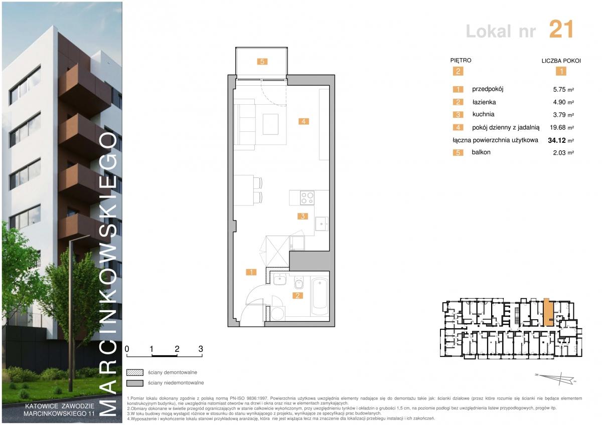 Mieszkanie 021 - 34,12 m2