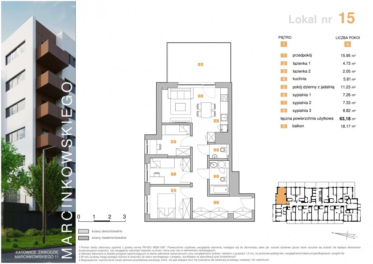 Mieszkanie 015 - 63,18 m2