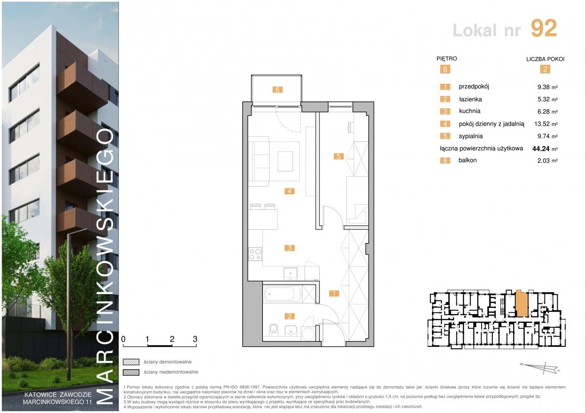 Mieszkanie 092 - 44,24 m2