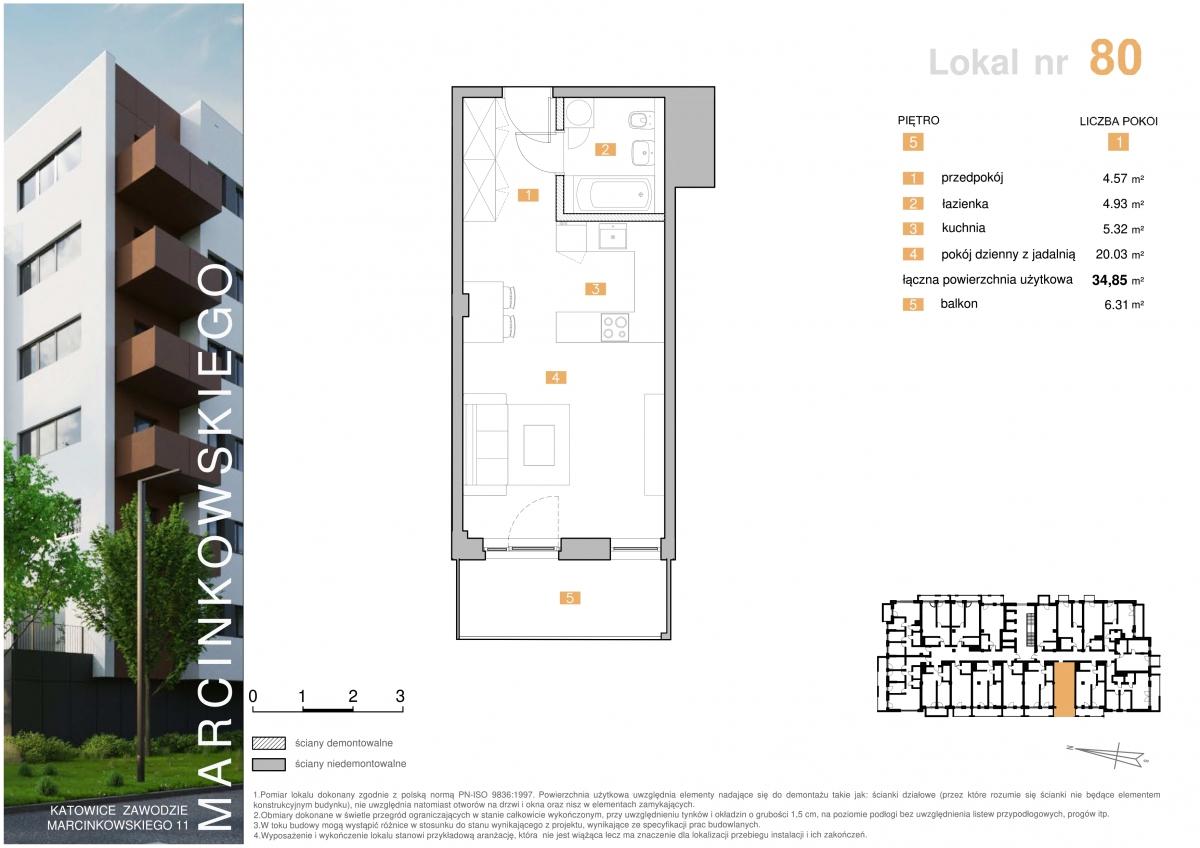 Mieszkanie 080 - 34,85 m2