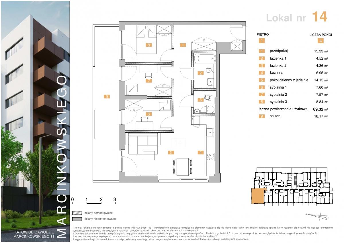 Mieszkanie 014 - 69,32 m2