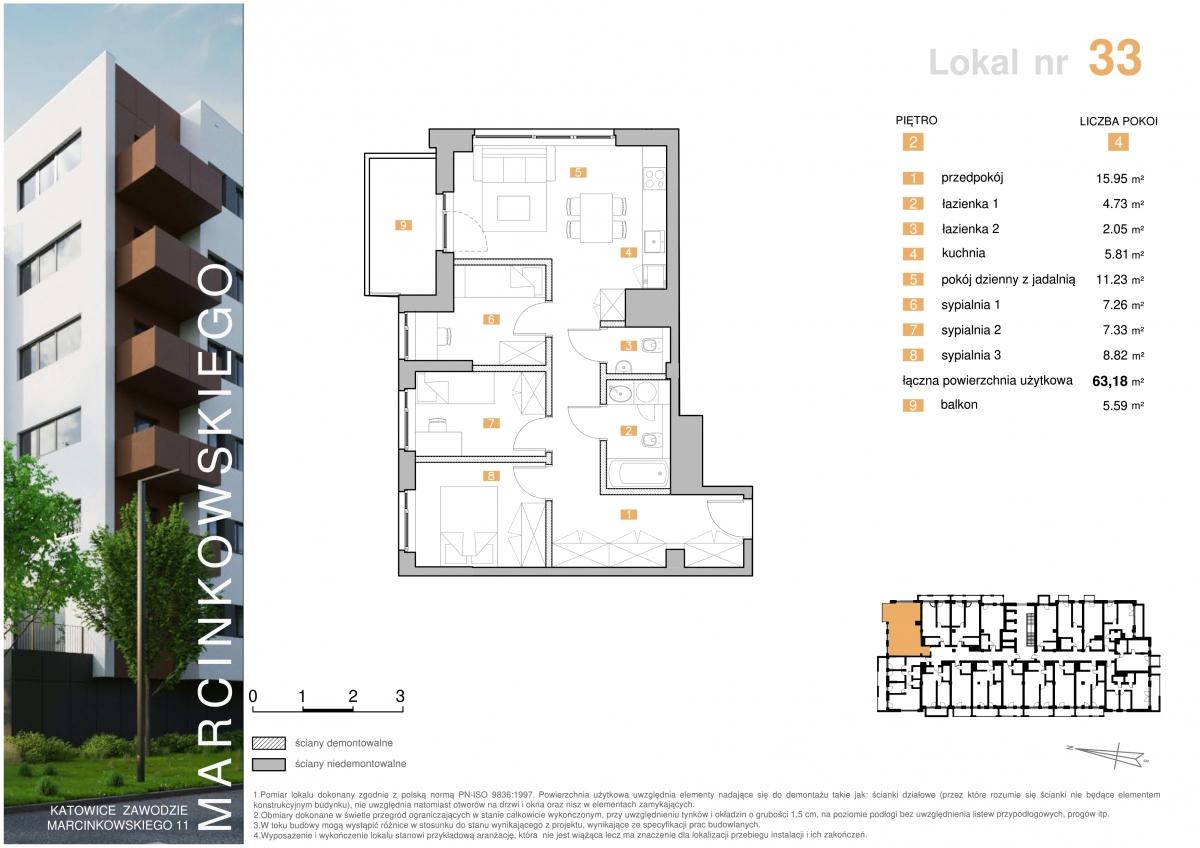 Mieszkanie 033 - 63,18 m2