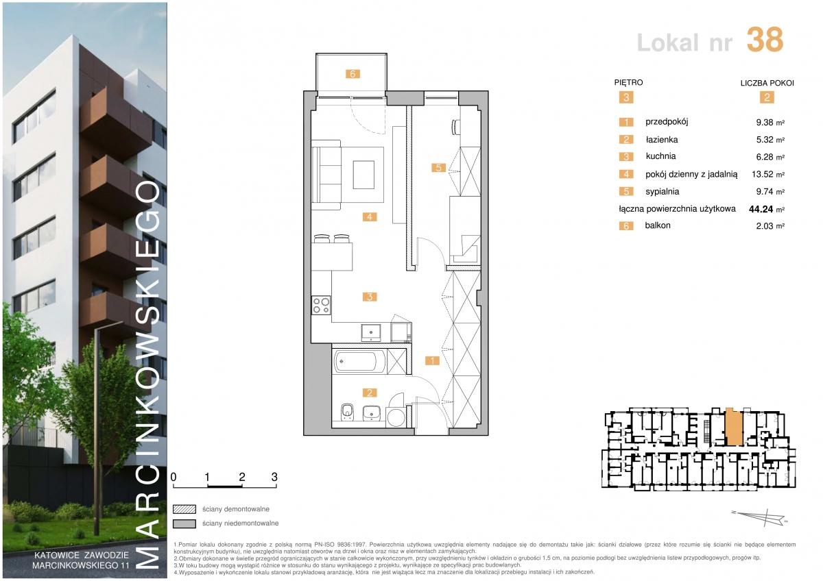 Mieszkanie 038 - 44,24 m2